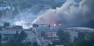 Firefighters describe 'colossal task' of battling 'unprecedented' fire that engulfed downtown Lac-Megantic