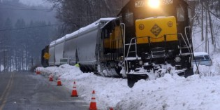 Train derailment in New Milford