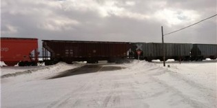 Ice causes train derailment in Fairgrove