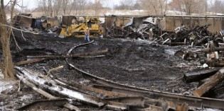Clearing debris from train derailment expected to take until late February