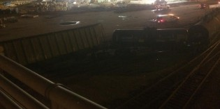 BNSF Train Derailment Hits Bridge Near Tulsa