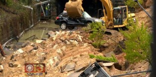 Cleanup Begins After Wall Collapse