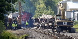 Crews checking for equipment malfunction in Slinger train derailment