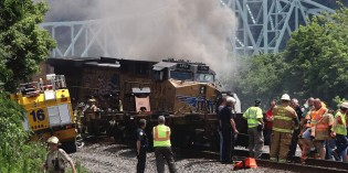 Norfolk Southern trains crash, derail in Sewickley, two injured