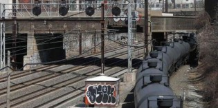 Crude oil crosses paths with two Philadelphia commuter train lines