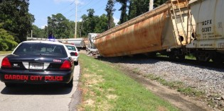 Rommel Ave. remains closed in Garden City after train derailment