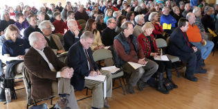 Large crowd wants environmental study of new rail line