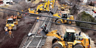 BNSF crews set bridges, track during 13-hour train stoppage