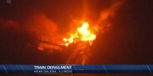 Evacuation put in place after train derails near Galena, Illinois