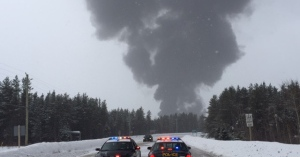 Train carrying crude oil derails near Gogama, Ont.