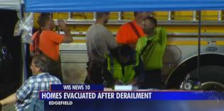Evacuation lifted following 38-car train derailment in SC