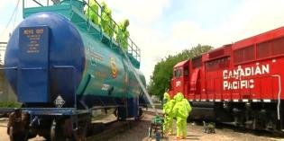 Rochester Fire Department trains for hazardous material railroad spills