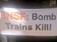 BNSF President Greeted by Bomb Train Protestors in Chicago