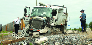 Train collision sends BNSF truck driver to hospital
