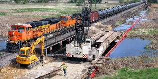 Judge allows marsh work to proceed; temporarily halts new rail traffic