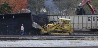 8 train cars hauling coal derail in Brownsville, PA