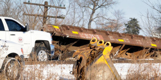 CN train derails north of Manteno; no injuries or leaks reported