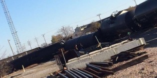 At least 10 Tank Cars Derail in Watertown, WI — Oil Leaking