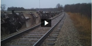 Broken track blamed for freight-train derailment in Howell