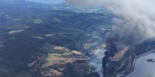 Crews work to put out oil train fire in the Gorge