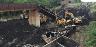Train derailment cause still unknown