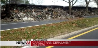 Freight train derailed in New Britain