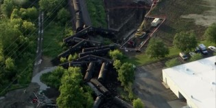 Train derailment dumps thousands of gallons of crude oil in Plainfield